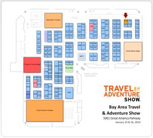 Floor plan for Bay Area Travel & Adventure Show
